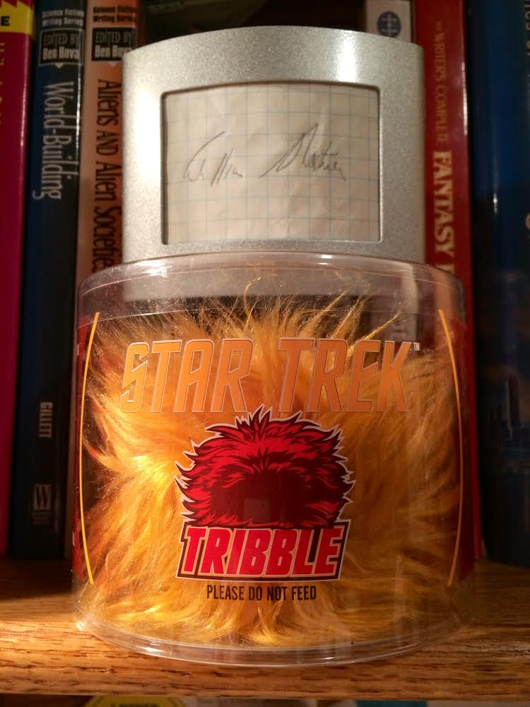 Tribble-Shatner autograph pic